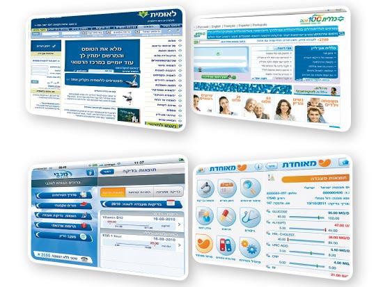 אתרים של קופות החולים / מתוך: האתרים